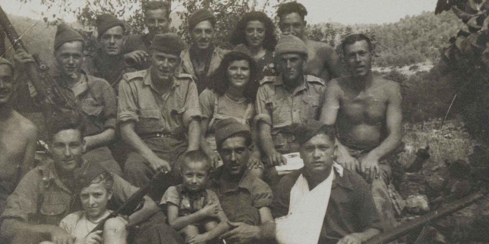 Yugoslav partisans with British commandos, Korcula, 1944