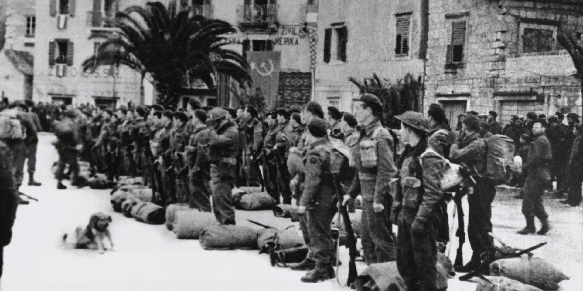 British Commandos at Komiza on the island of Vis, 1944