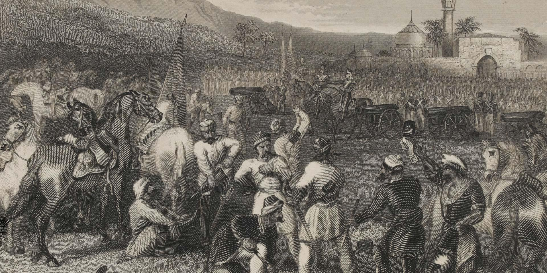 Disarming of the 11th Cavalry at Berhampore, 1857