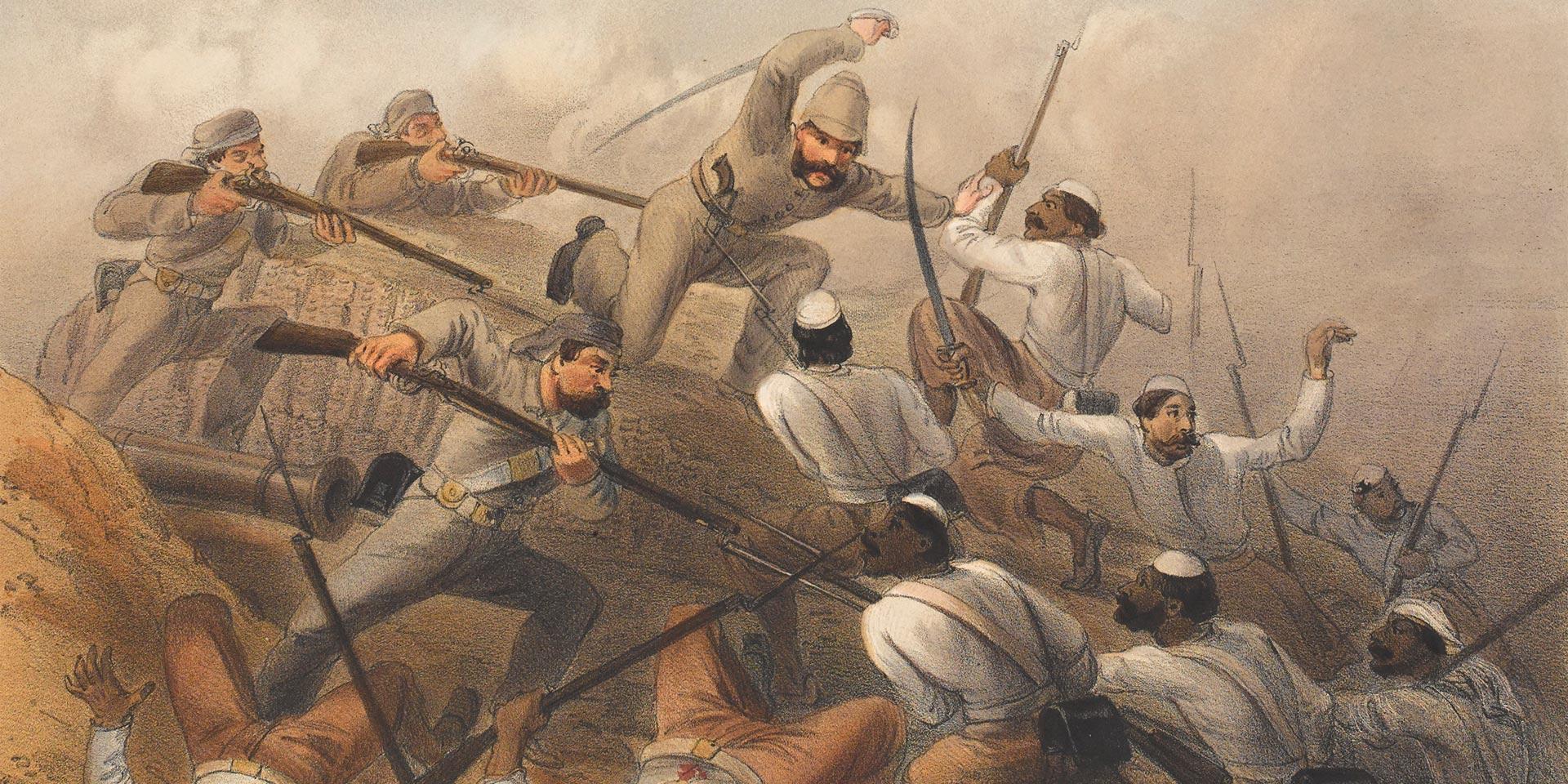 Repulse of a sortie on the Delhi Ridge, 1857