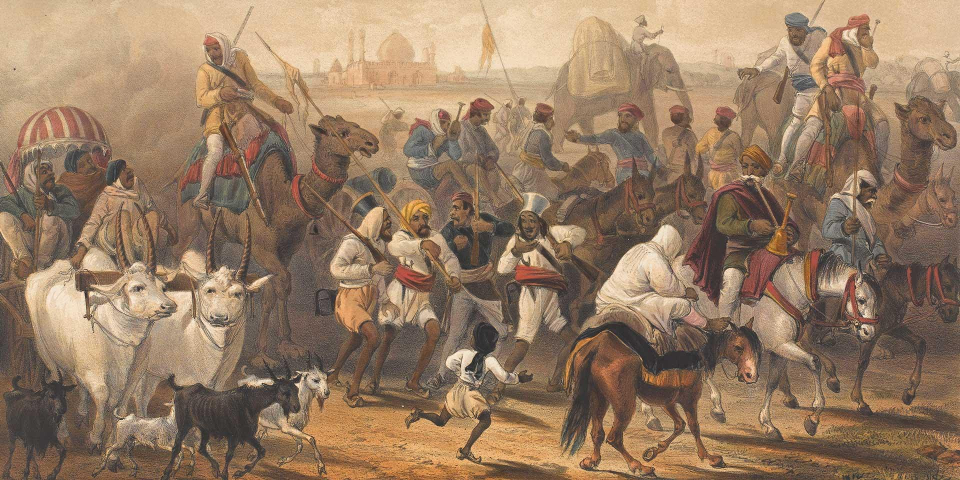 Indian troops allied to the British, 1857