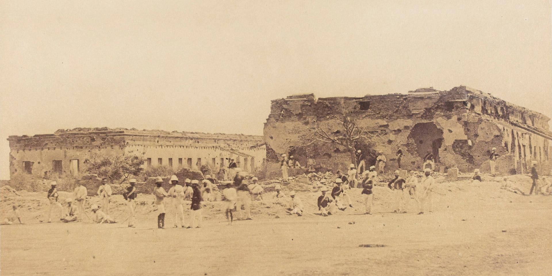 The ruins of General Wheeler's entrenchment at Cawnpore, 1858