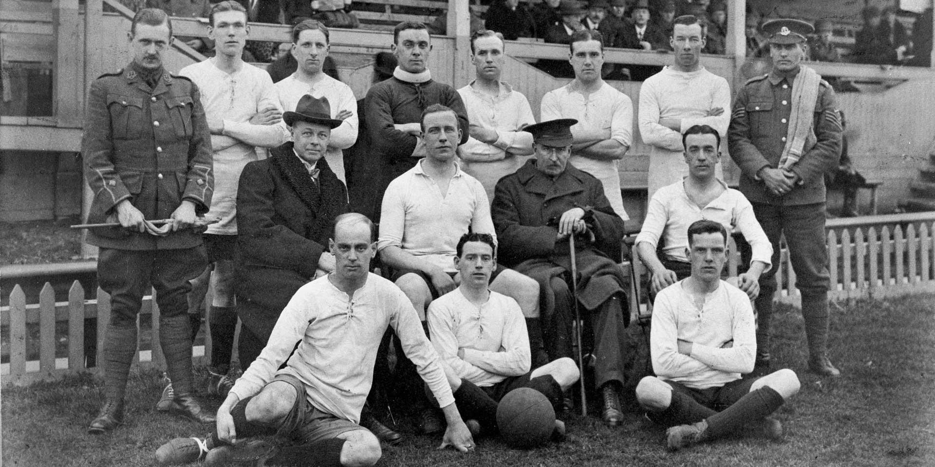 Footballers of 17th (S) Battalion, The Duke of Cambridge's Own (Middlesex Regiment), 1915