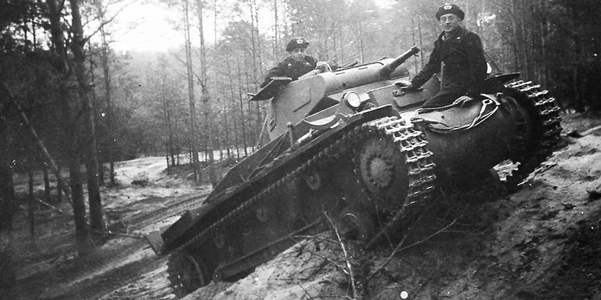 A Panzer II during a pre-war exercise, 1938