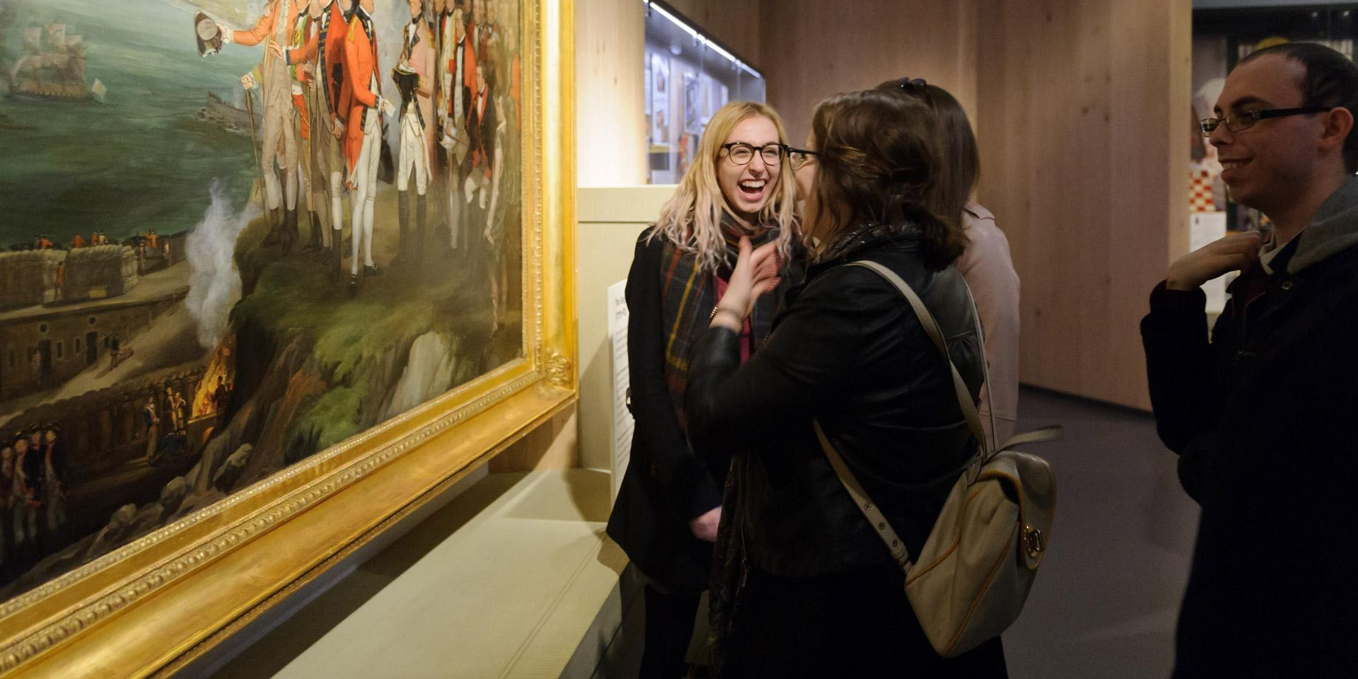 Visitors having fun in the galleries