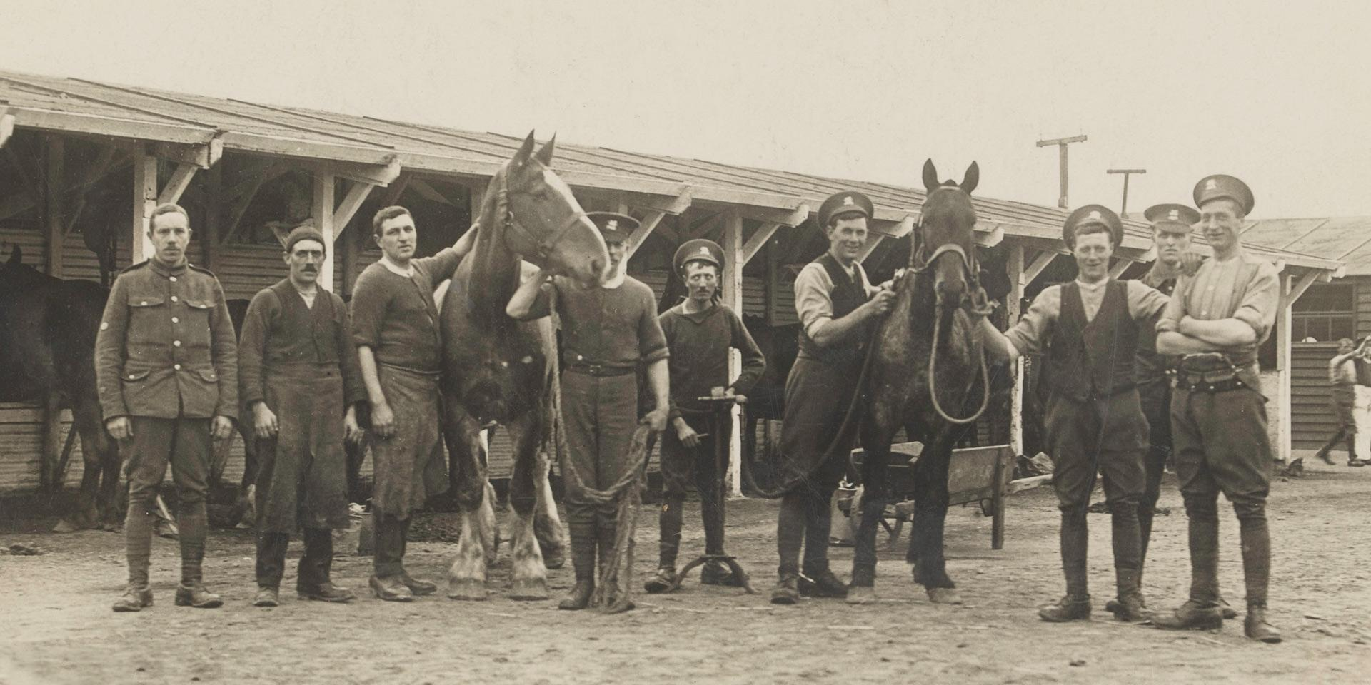Stables of The Buffs (East Kent) Regiment, c1914