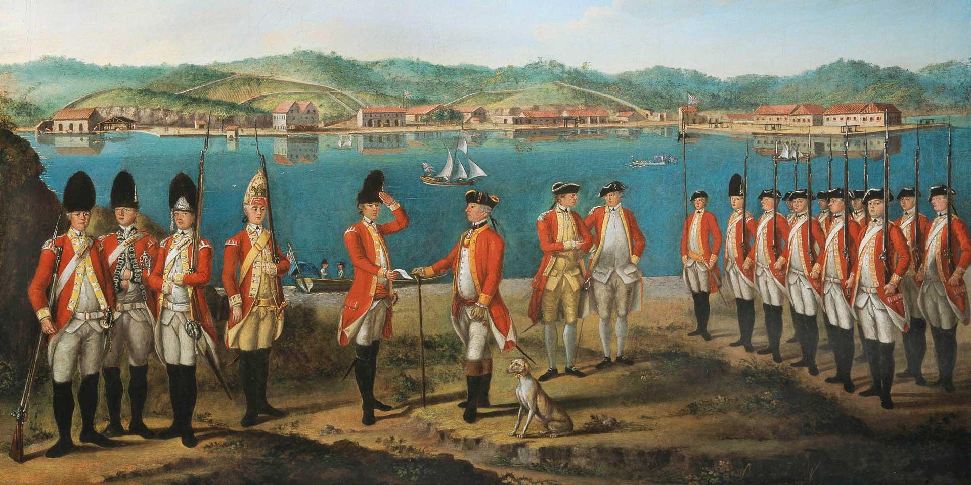 British redcoats, c1771