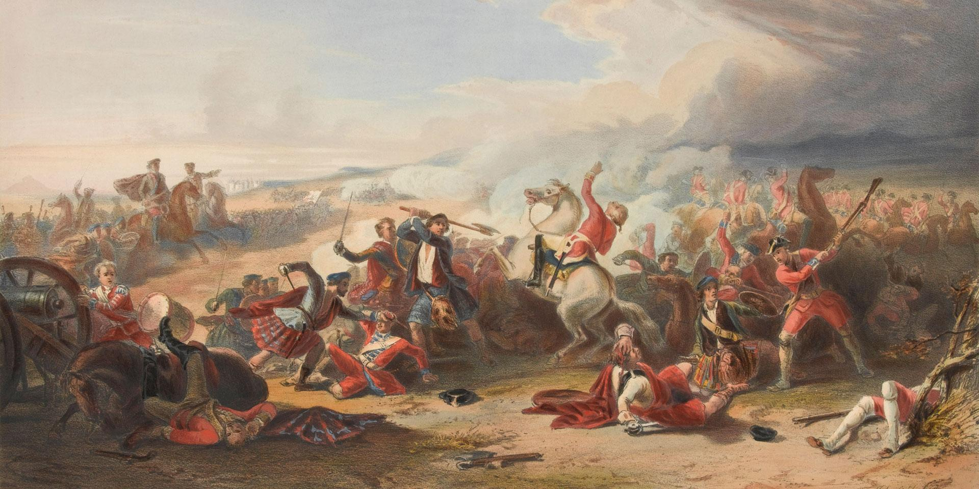 The Battle of Prestonpans, 1745