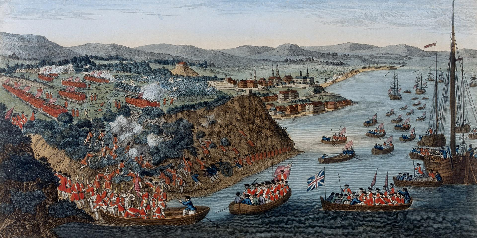 The landing at Quebec, 1759