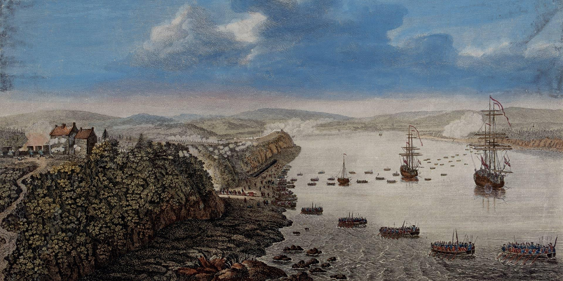 The British landing at Quebec, 1759