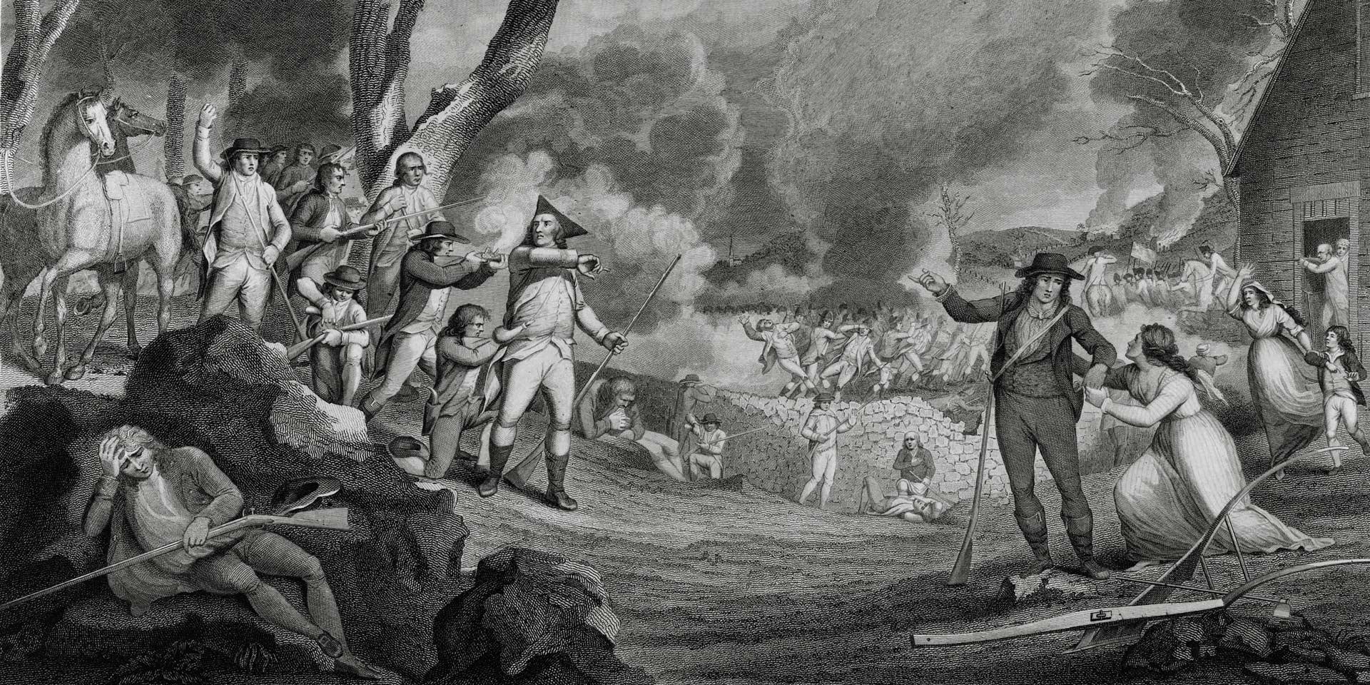 The Battle of Lexington, 19 April 1775