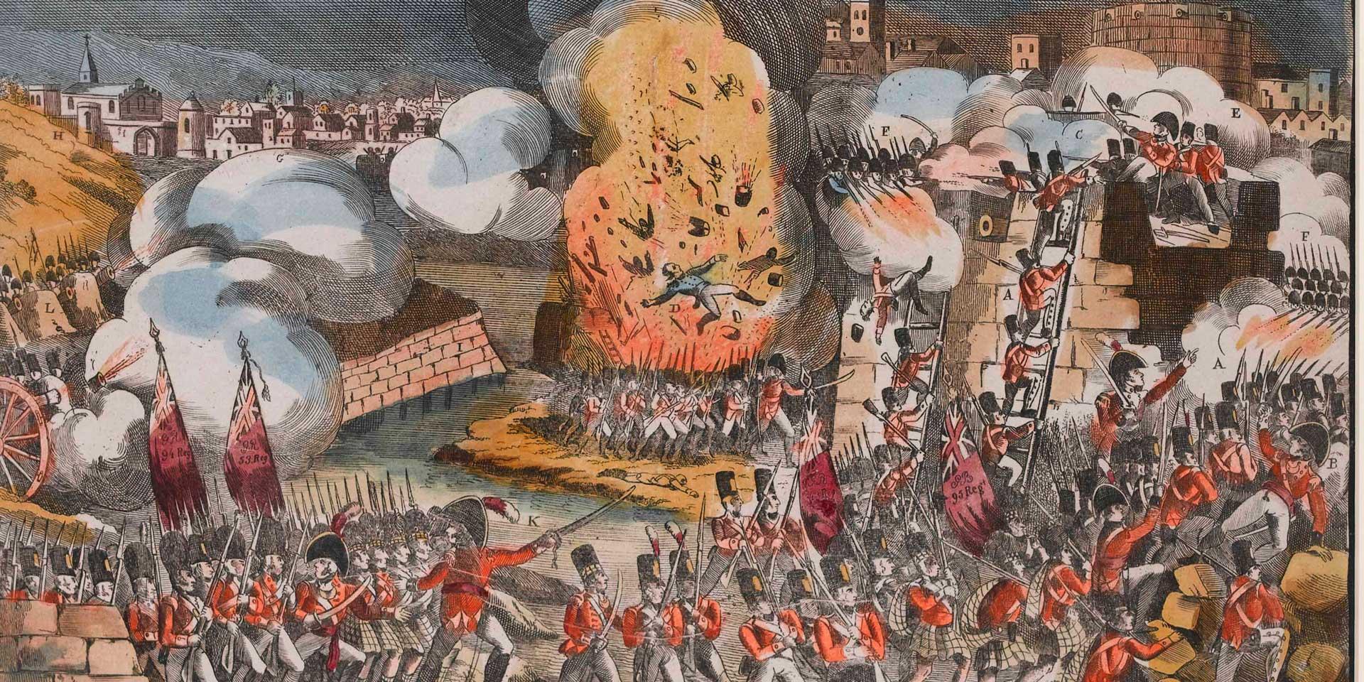 The storming of Ciudad Rodrigo, 1812