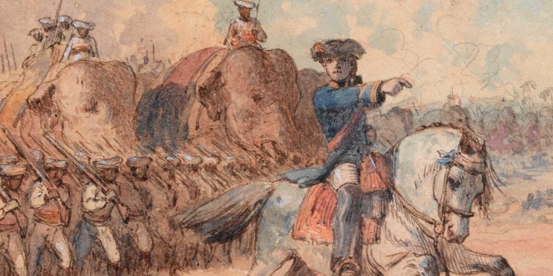 Major-General Robert Clive at Plassey, 1757