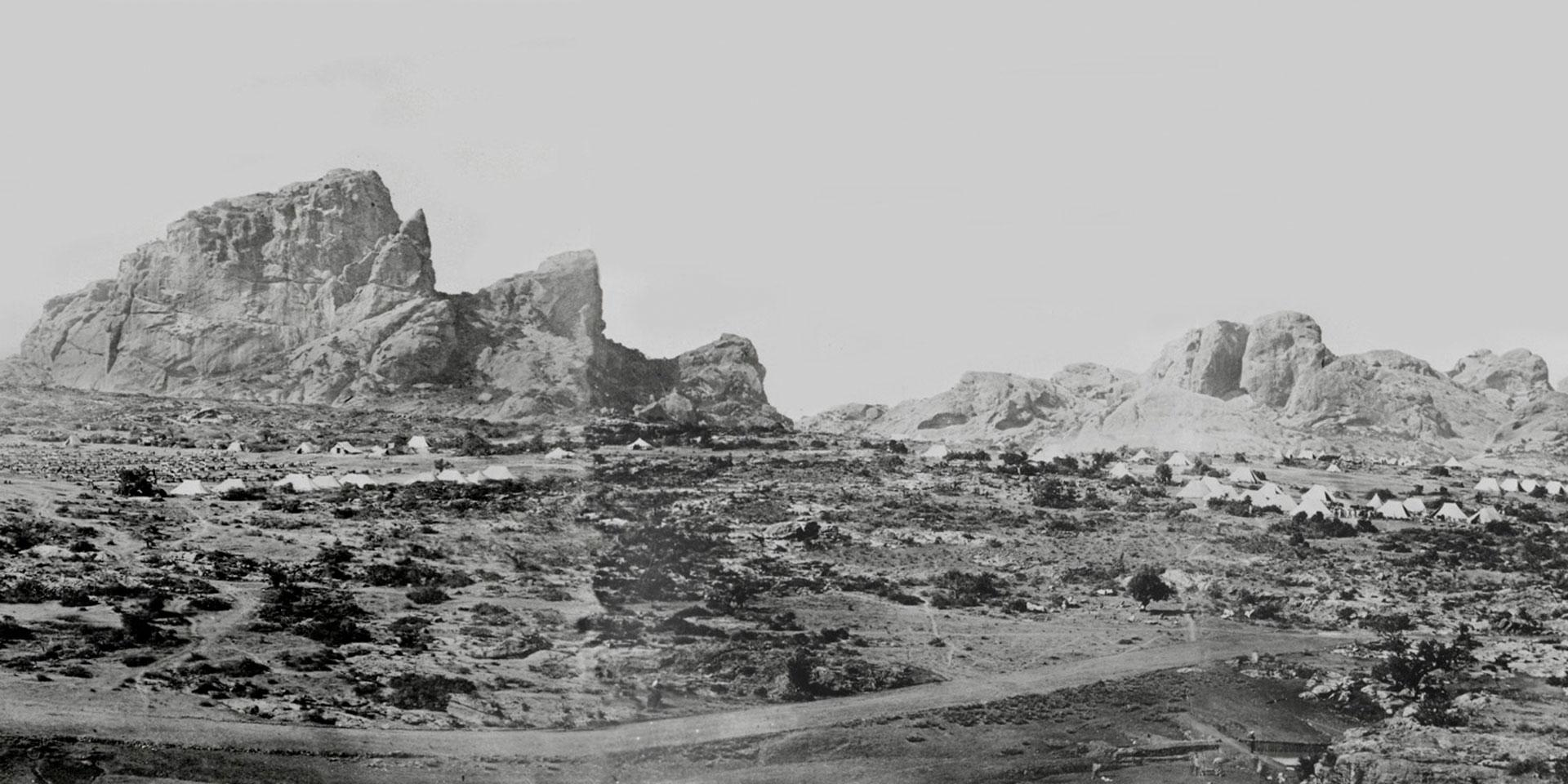 King Theodore's fortress of Magdala, 1868