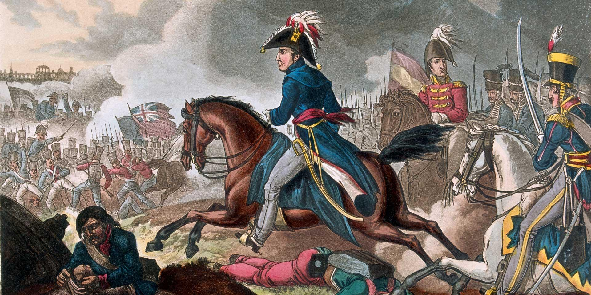 Wellington in the midst of the battle at Salamanca, July 1812