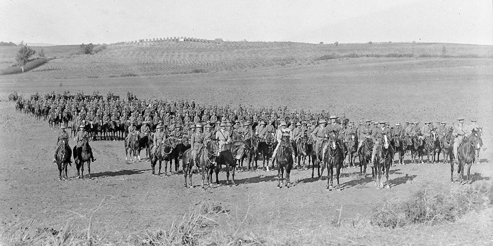 Australian Light Horse in Palestine, 1918