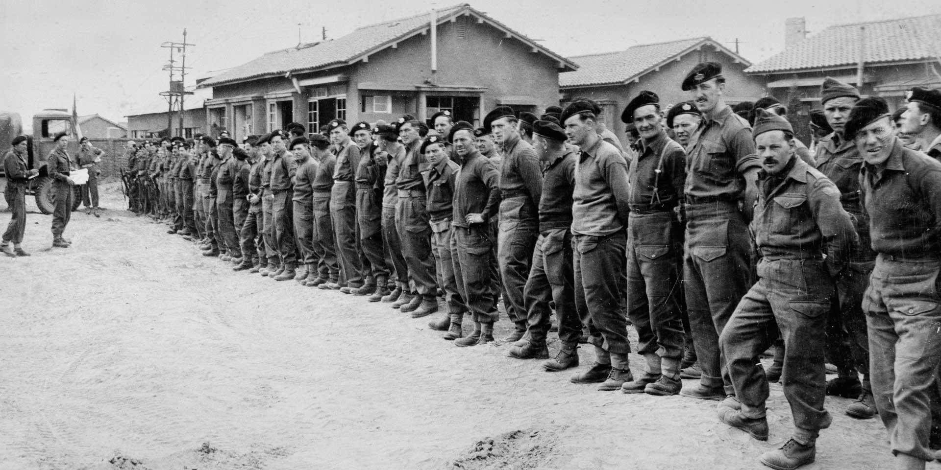 Roll call of The Gloucester Regiment's survivors of the Battle of Imjin River, 1951