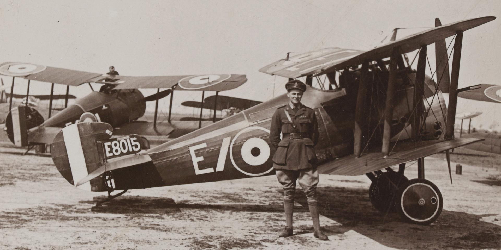 Sopwith Camels ready for a patrol over the German lines, 1917