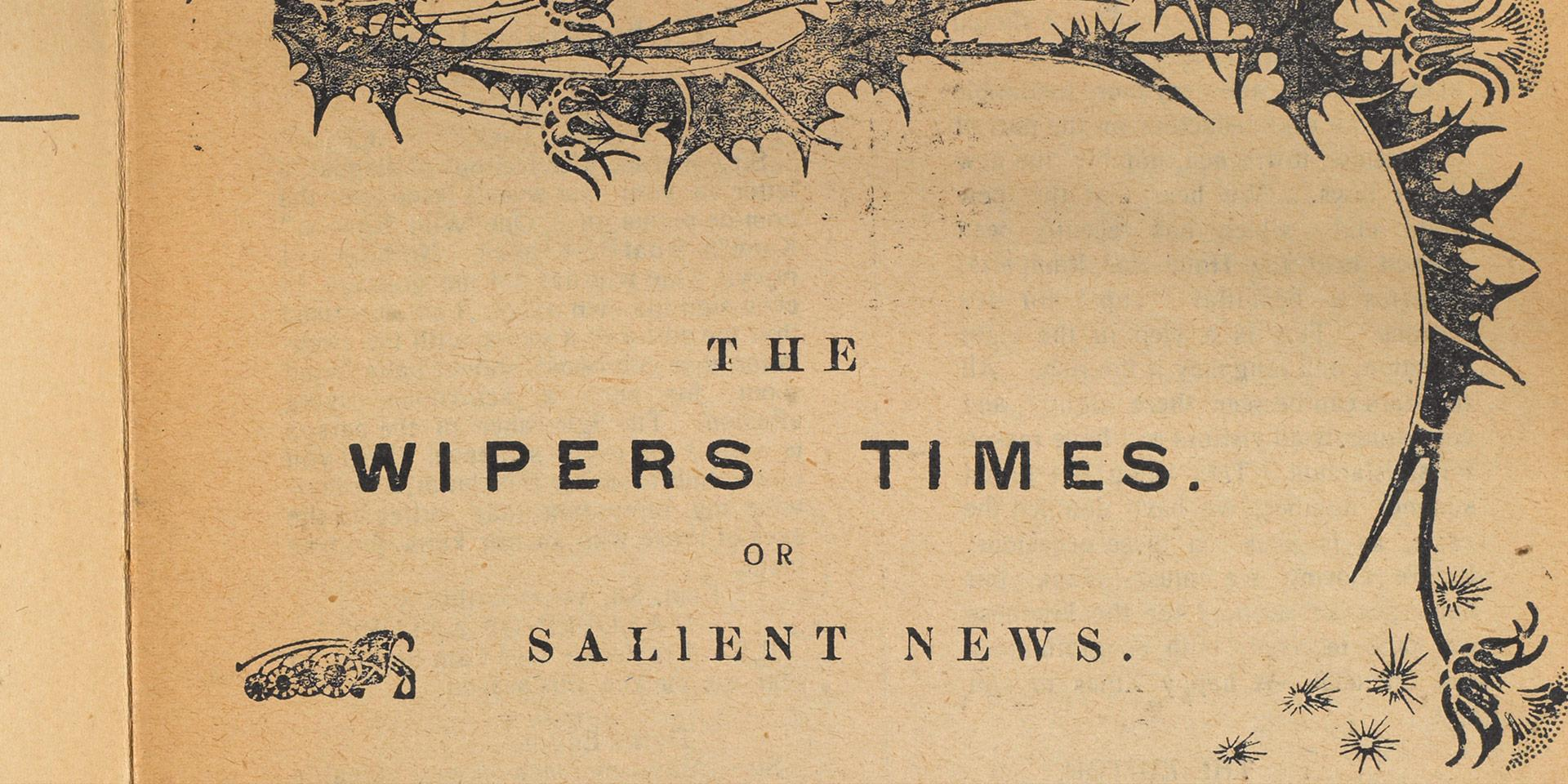 'The Wipers Times', 1916