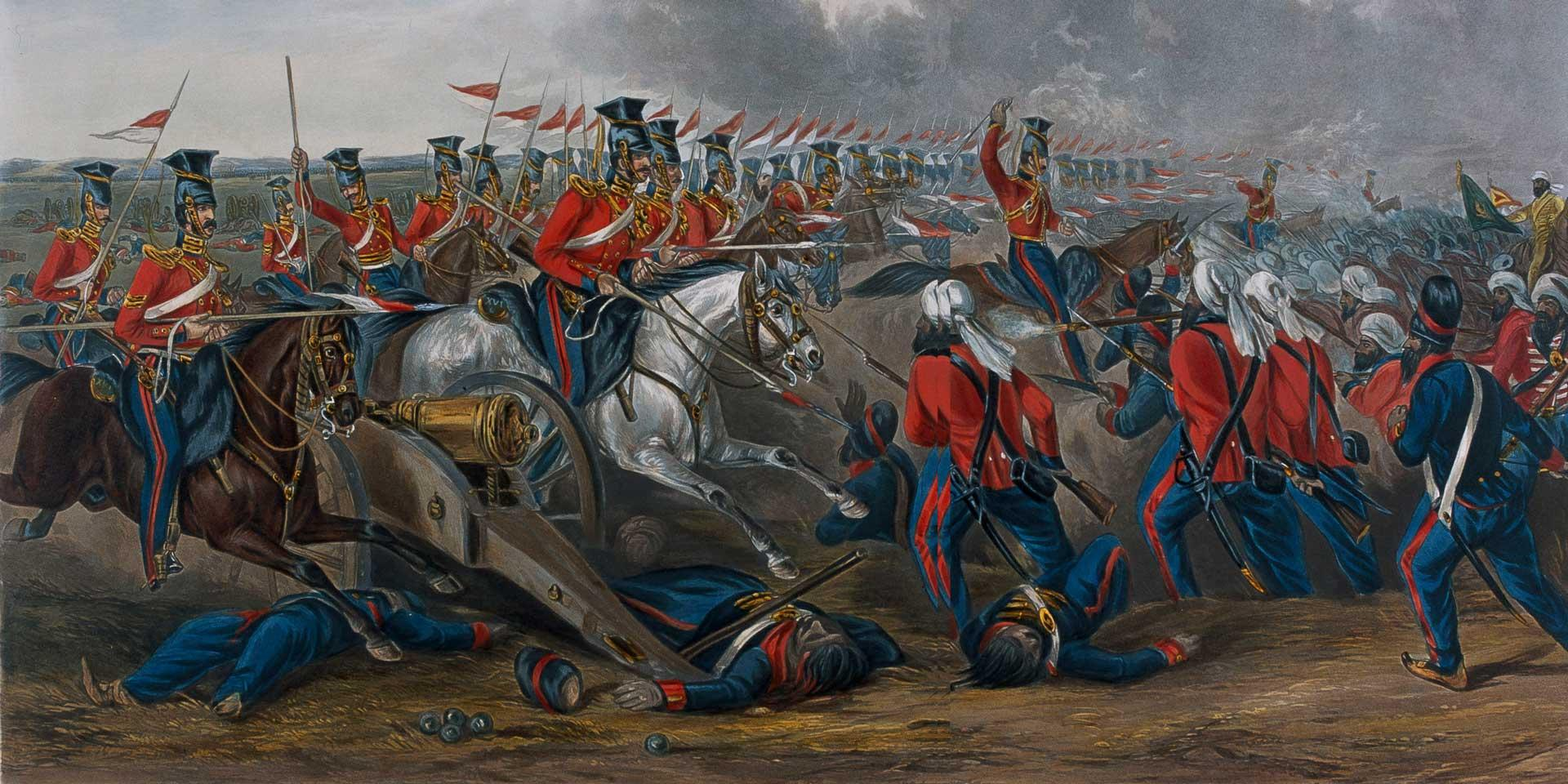 Charge of the 16th (Queen's Own) Lancer's at Aliwal, 1846