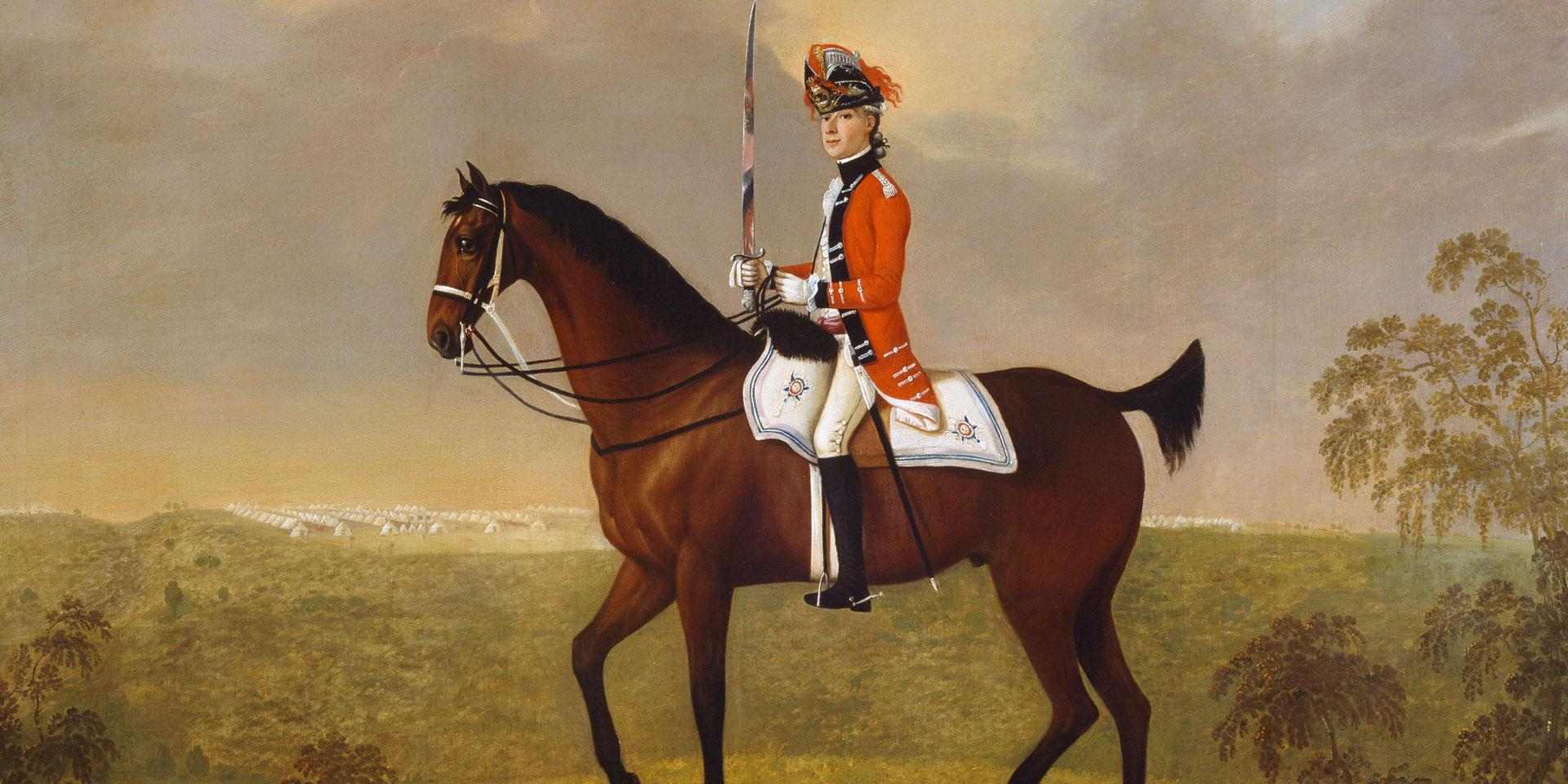 Coronet Thomas Parkyns, 15th Light Dragoons, c1755