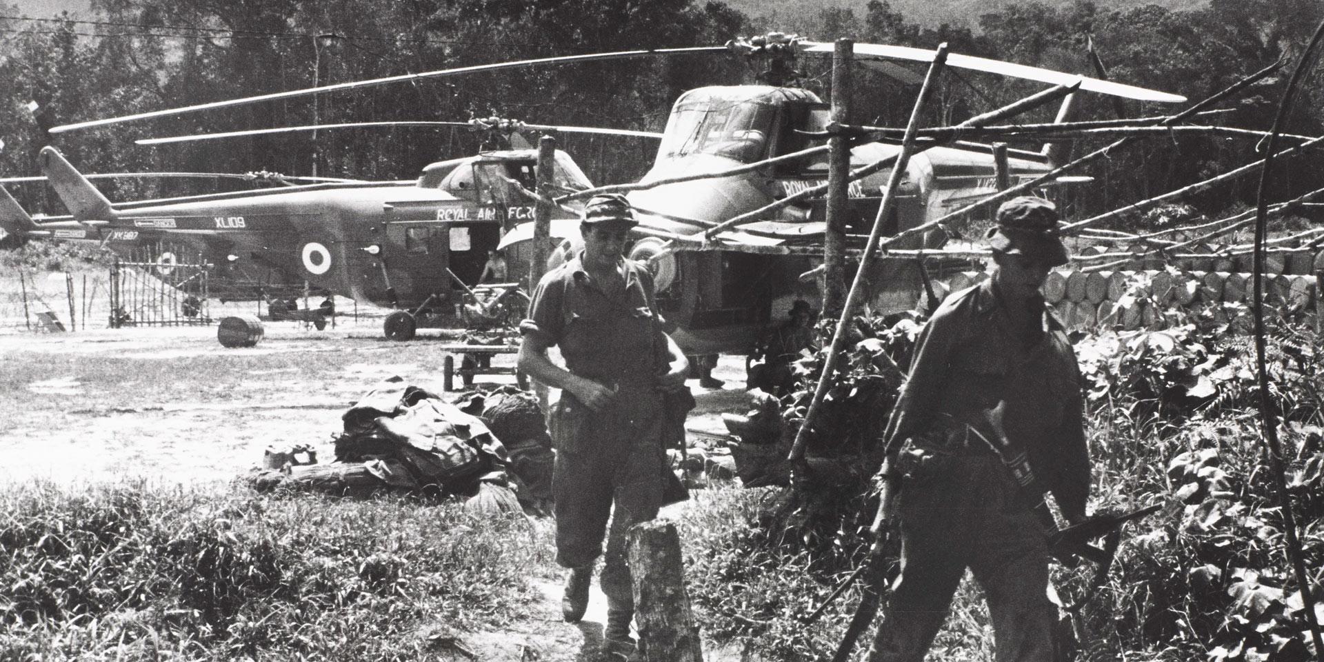Nanga Gaat, an SAS forward base on the Rejang River, North Borneo, 1964