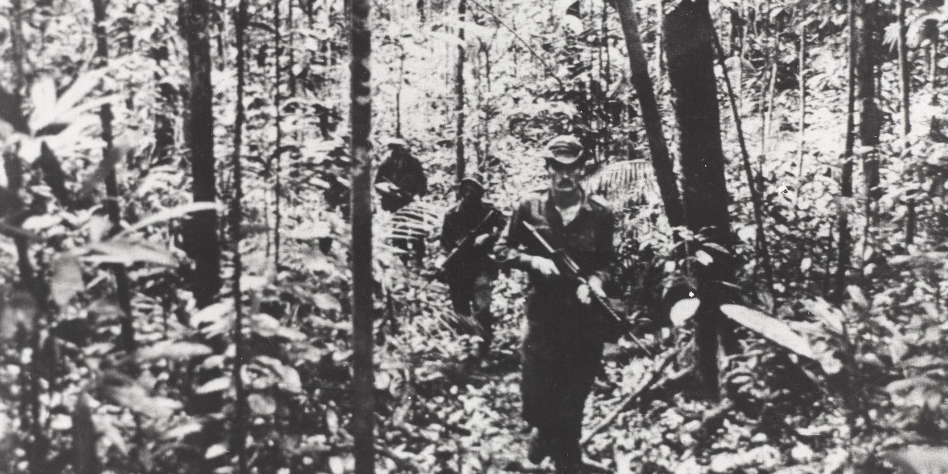 On patrol in the jungles of North Borneo, c1964