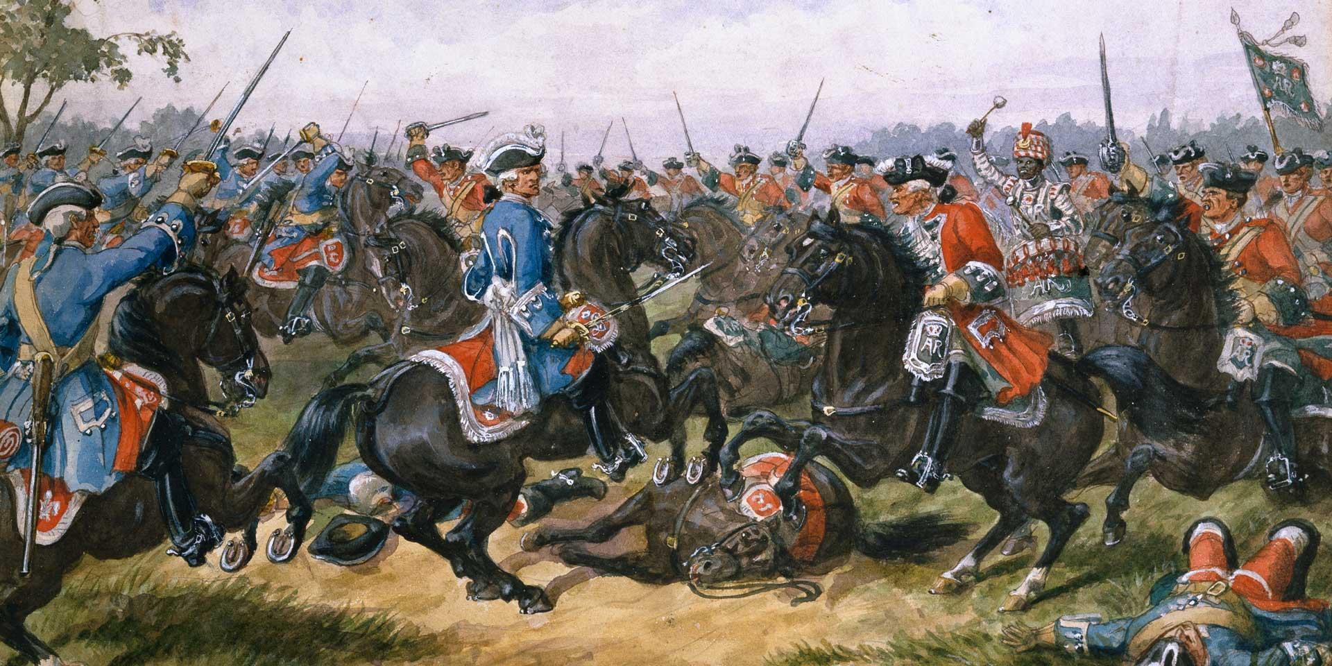 The King's Regiment of Carabiniers, c1709