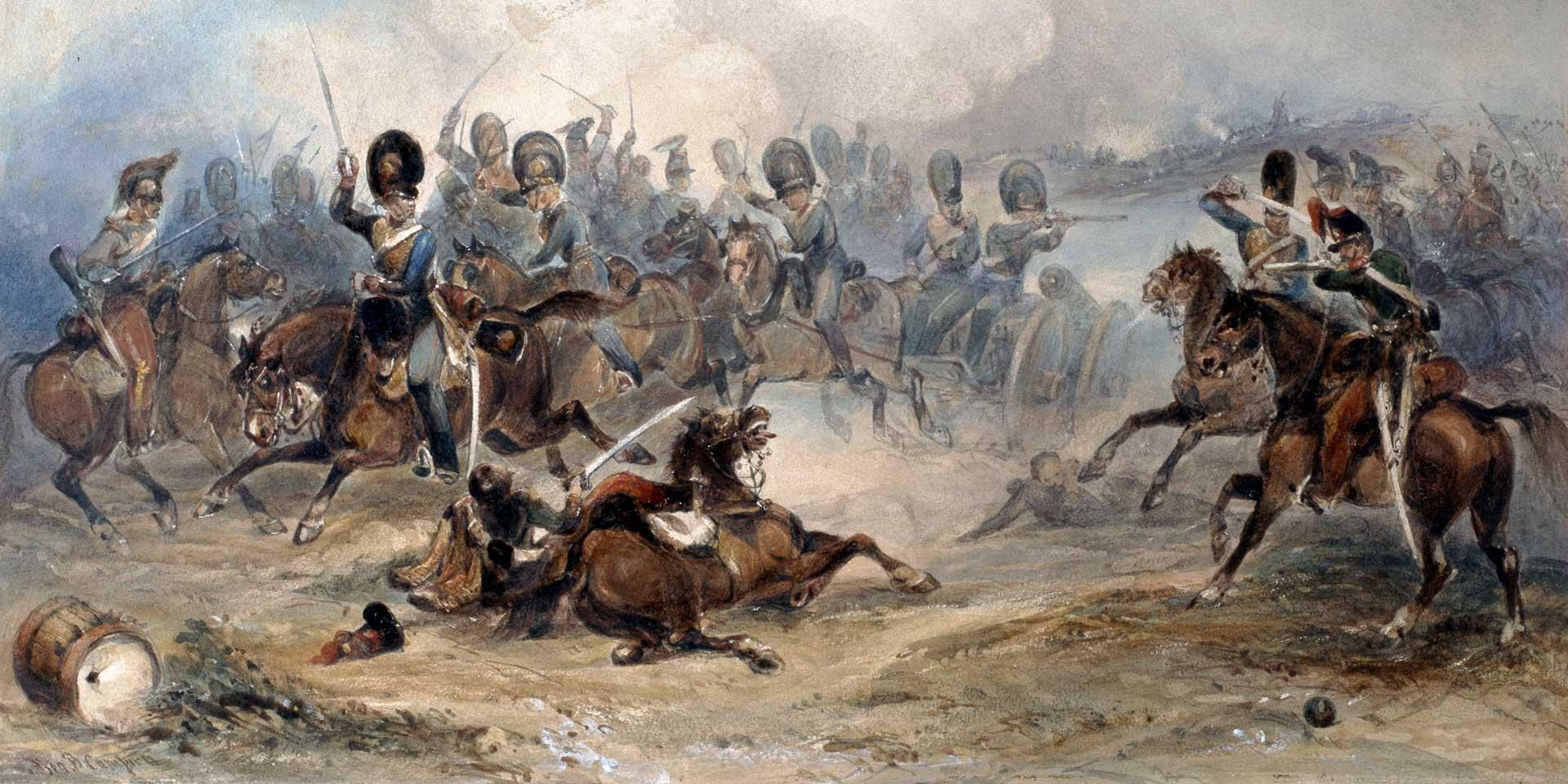 A Royal Horse Artillery troop at the Battle of Fuentes d'Onoro, 1811