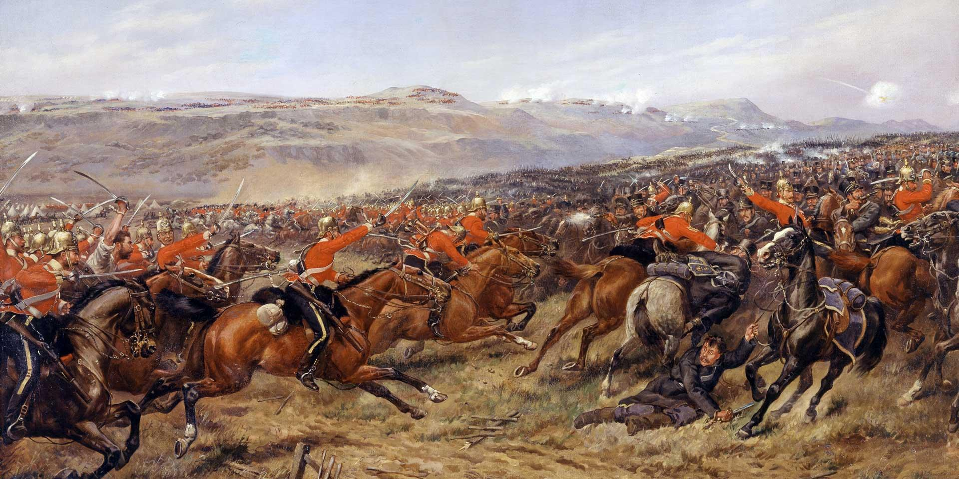 The Charge of the Heavy Brigade at the Battle of Balaclava, 25 October 1854