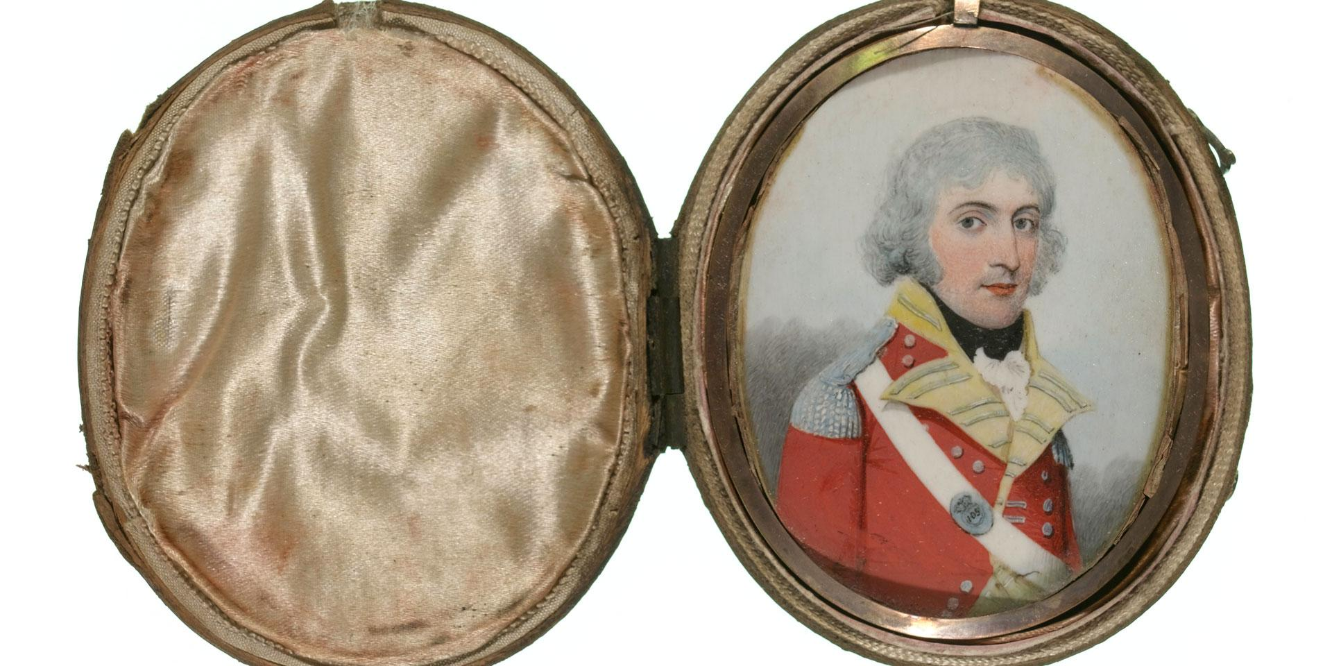 Miniature of an unidentified officer of the 105th Regiment, 1795