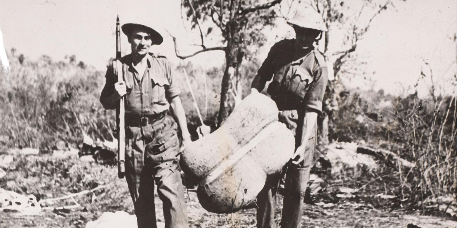 Collecting supplies dropped to Chindits by air, April 1944