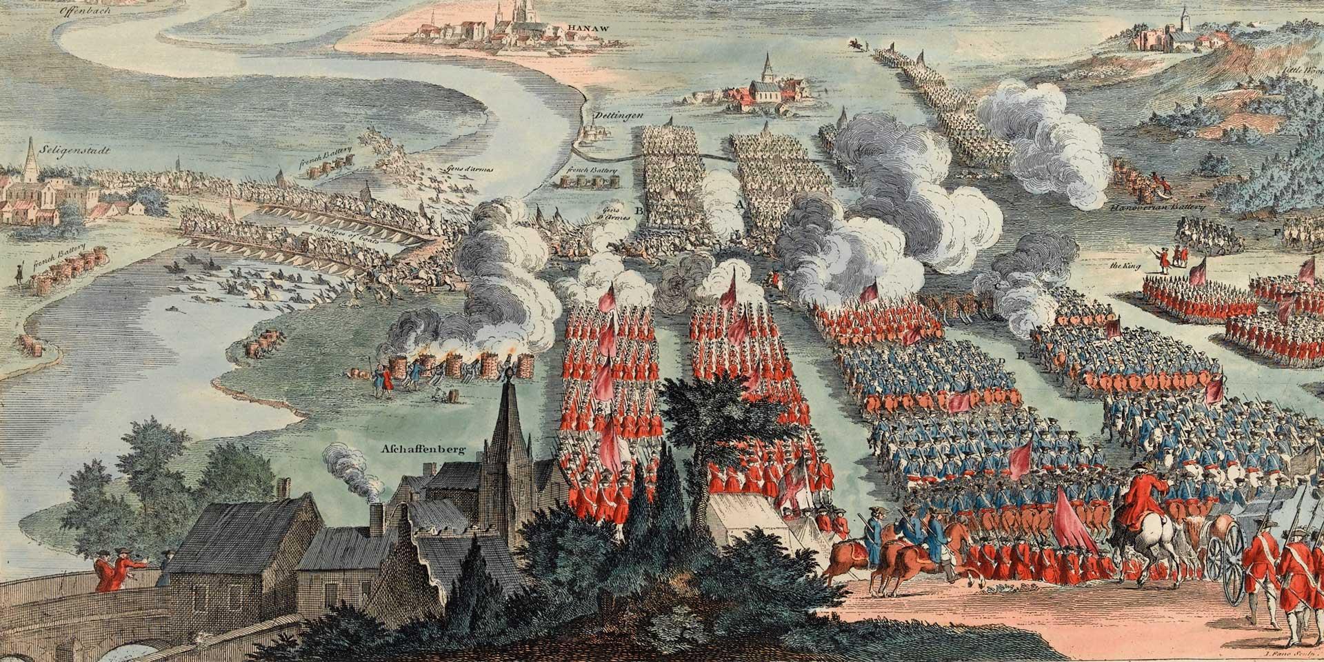 The Battle of Dettingen, 1743