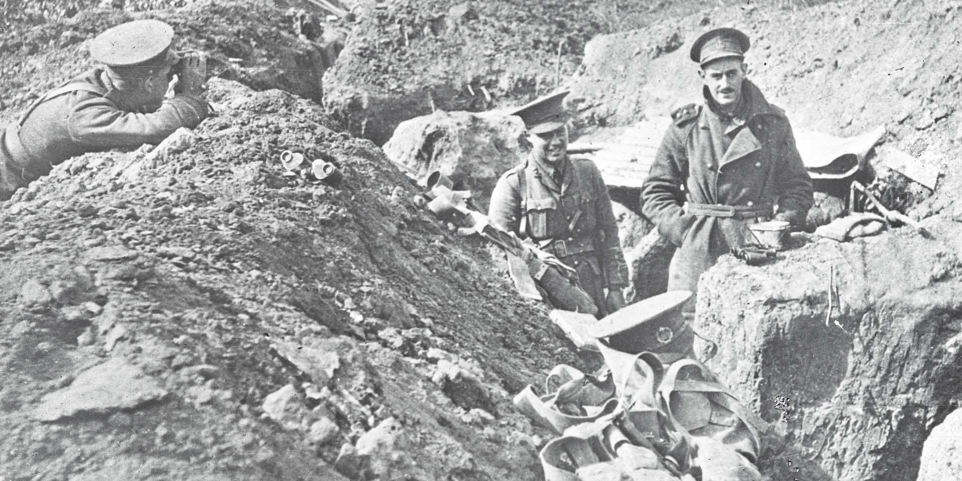 British troops in the trenches, 1914