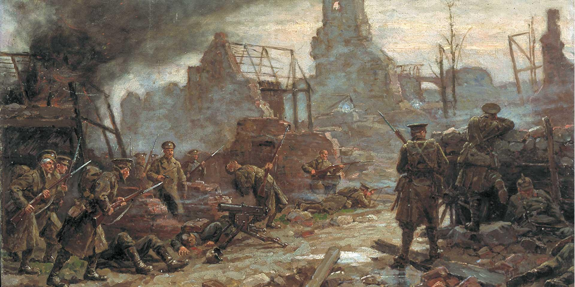 The taking of Neuve Chapelle by the British, 10 March 1915