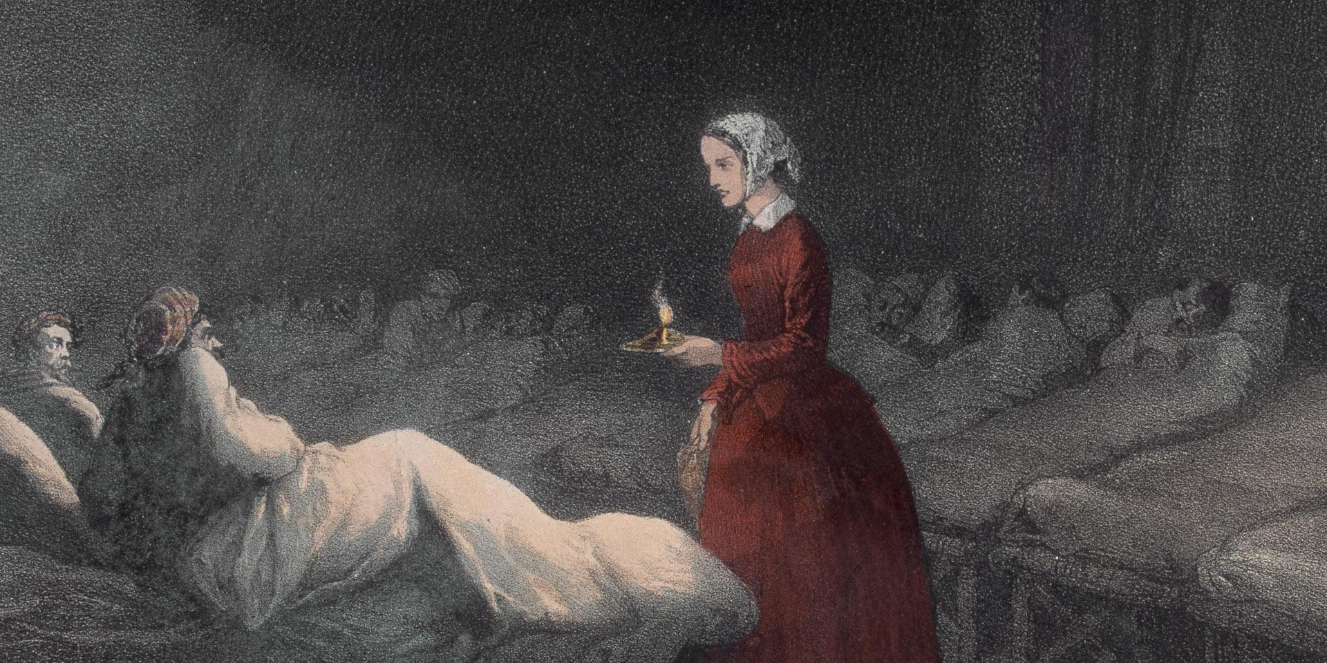 Florence Nightingale at Scutari, 1856