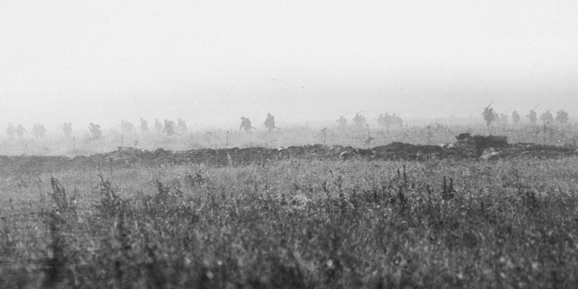 A battalion of the 103rd (Tyneside Irish) Brigade advance on La Boisselle, 1 July 1916