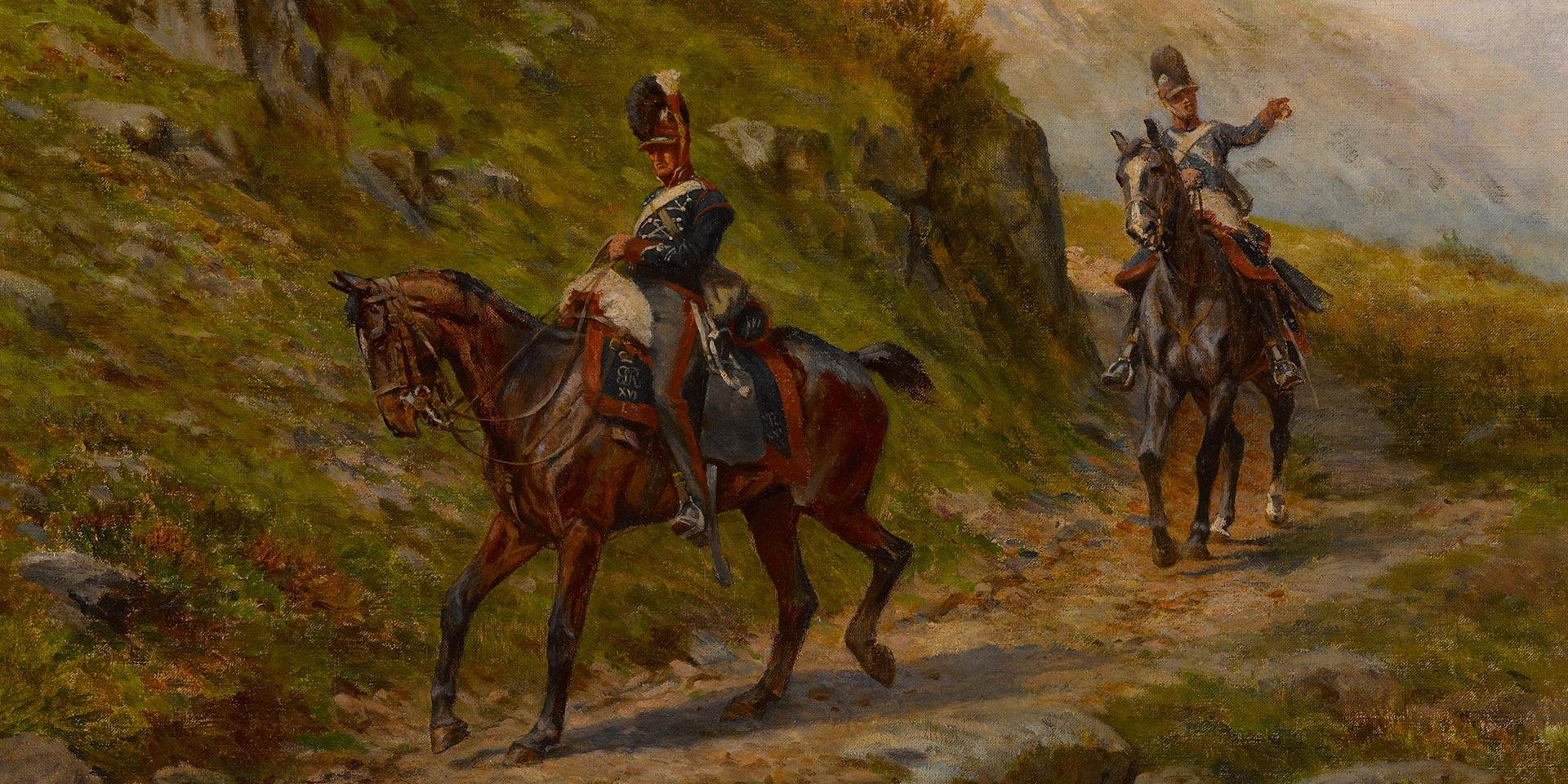 Illustration of the 16th Light Dragoons by William Barnes Wollen, 1910