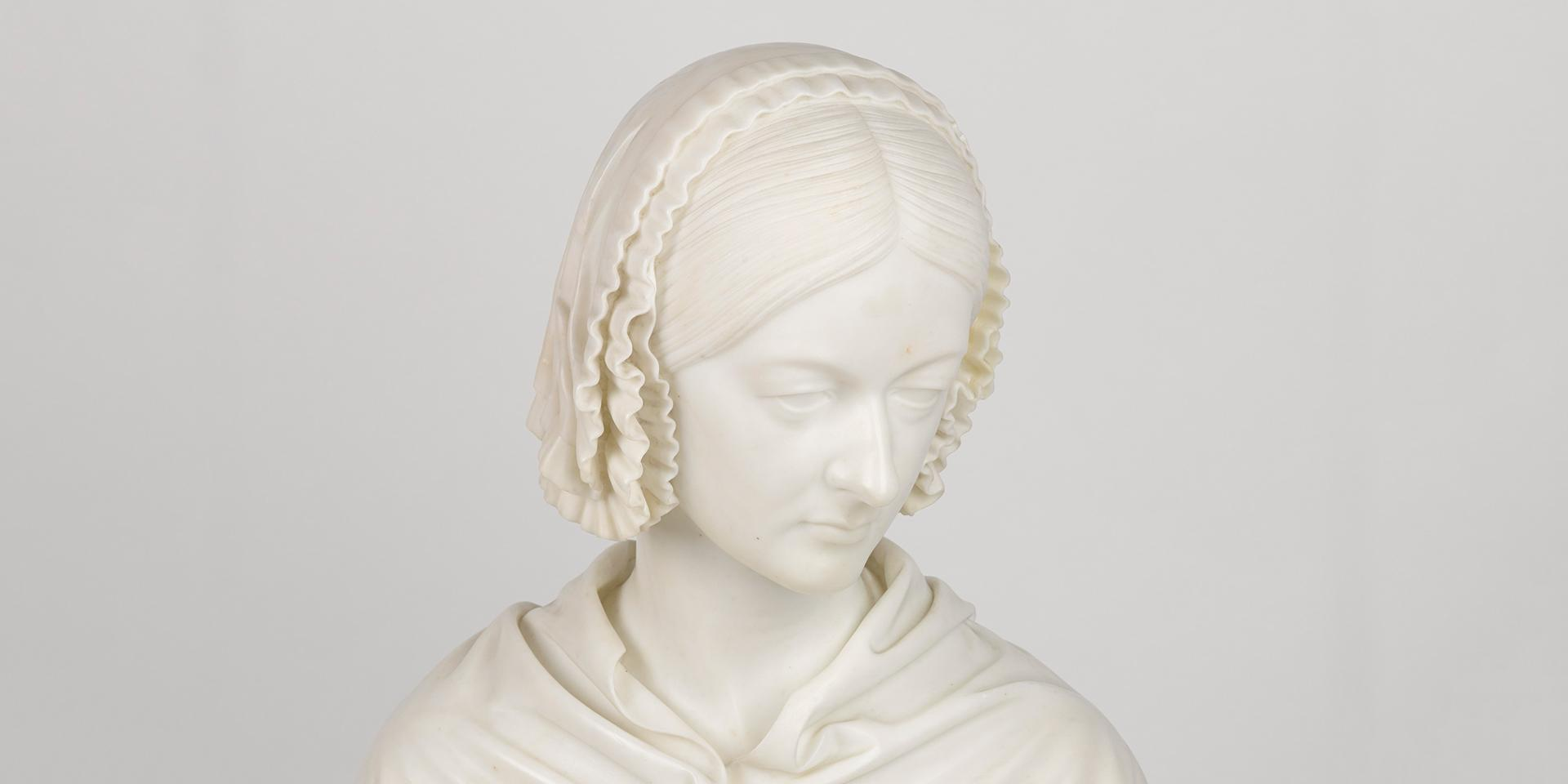 Bust presented to Florence Nightingale by men of the British Army in 1862