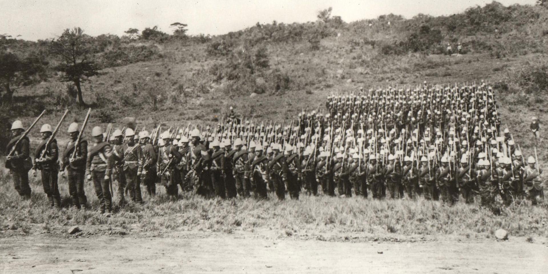91st Highlanders in Zululand 1879.