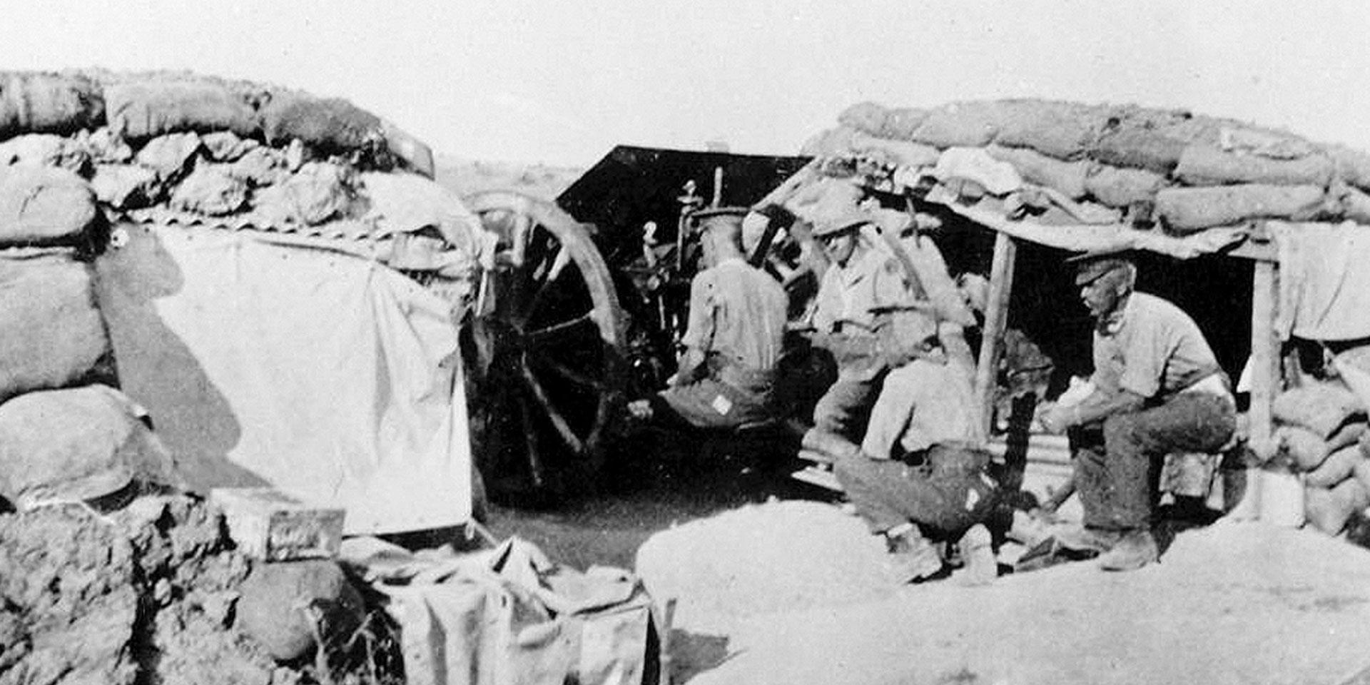 92nd Battery of 117th Brigade, Royal Field Artillery, at Cape Helles, 1915
