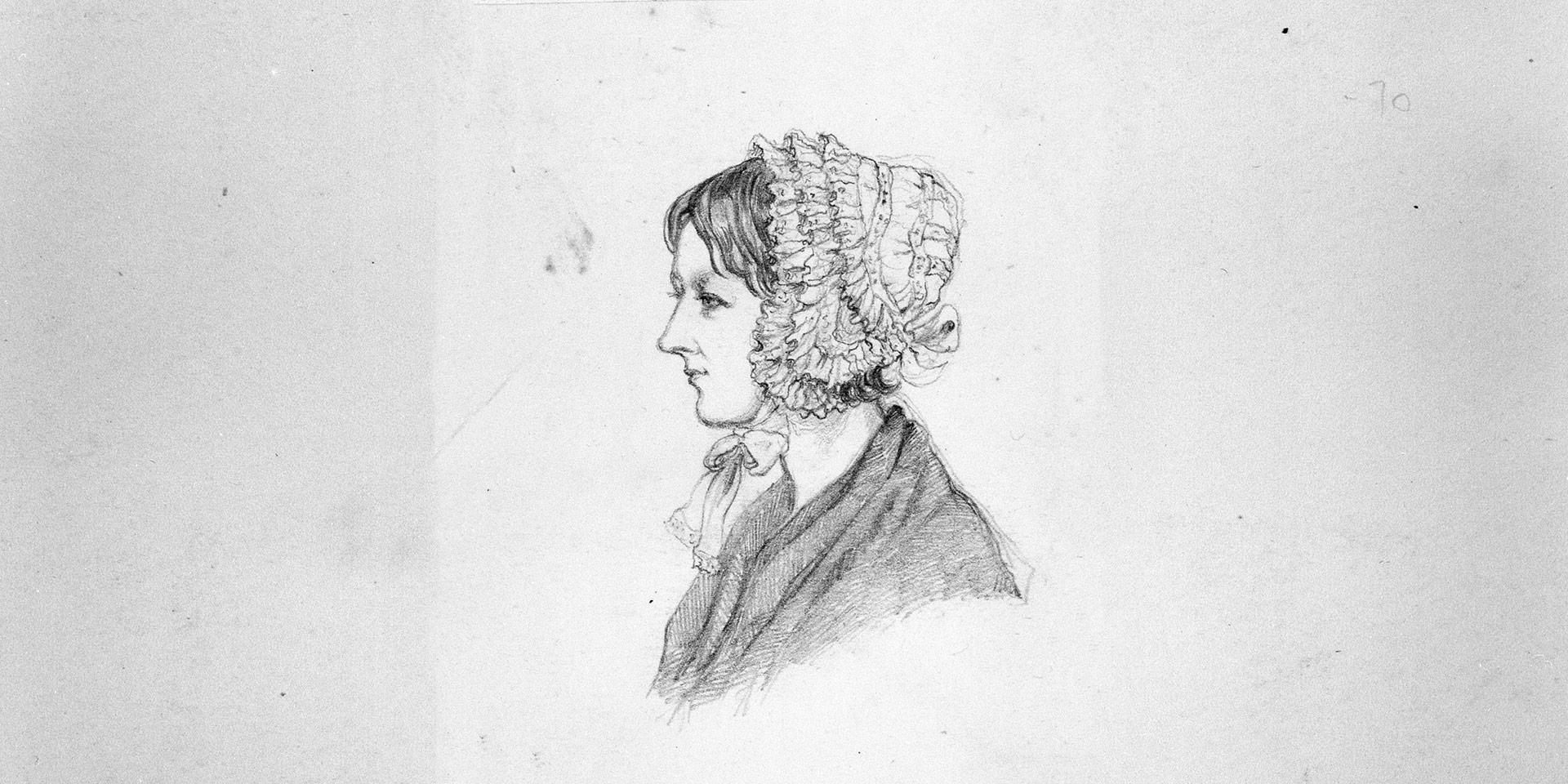 Florence sketched at the time of her illness, 1856