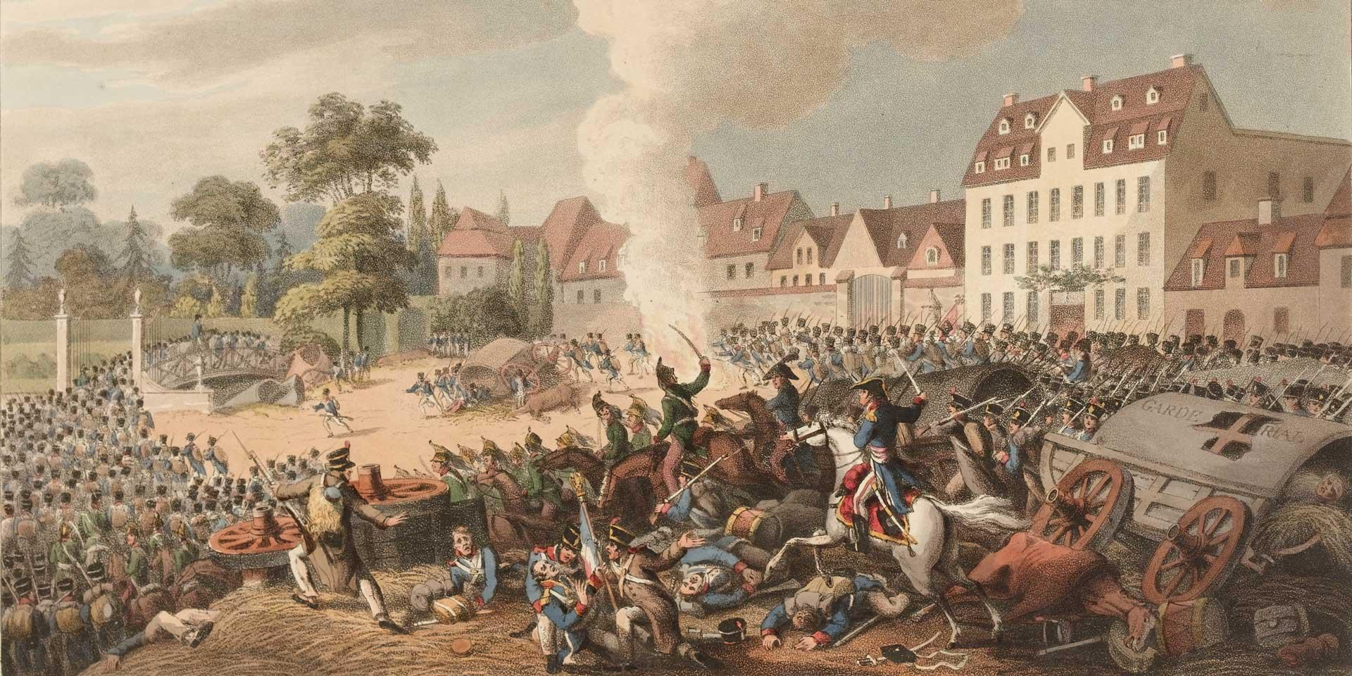 Pursuit of the French through Leipzig, 1813