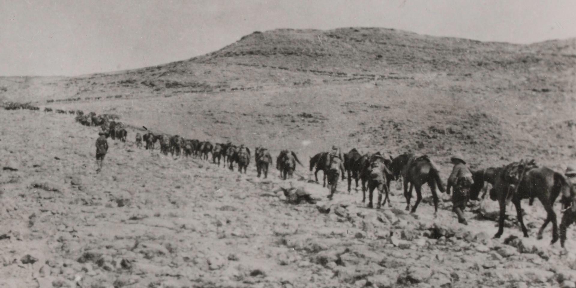 1/1st Buckinghamshire Yeomanry (Royal Bucks Hussars) on patrol, 1915