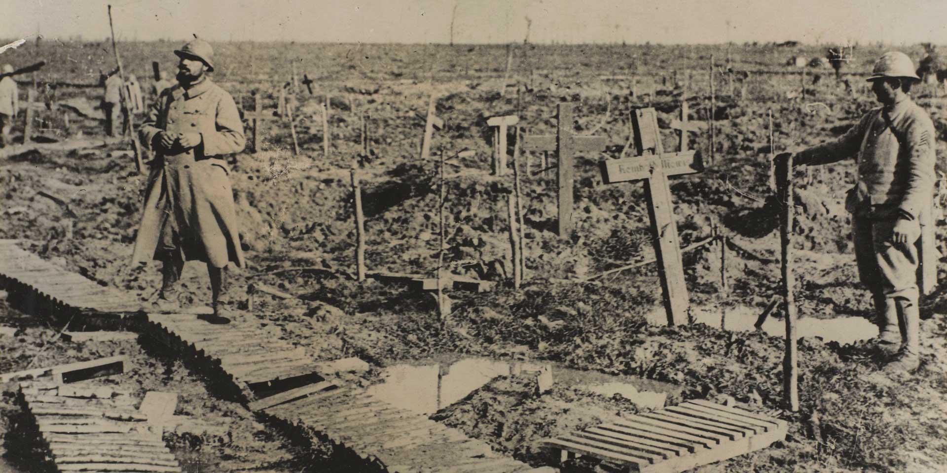Graves at Passchendaele, 1917