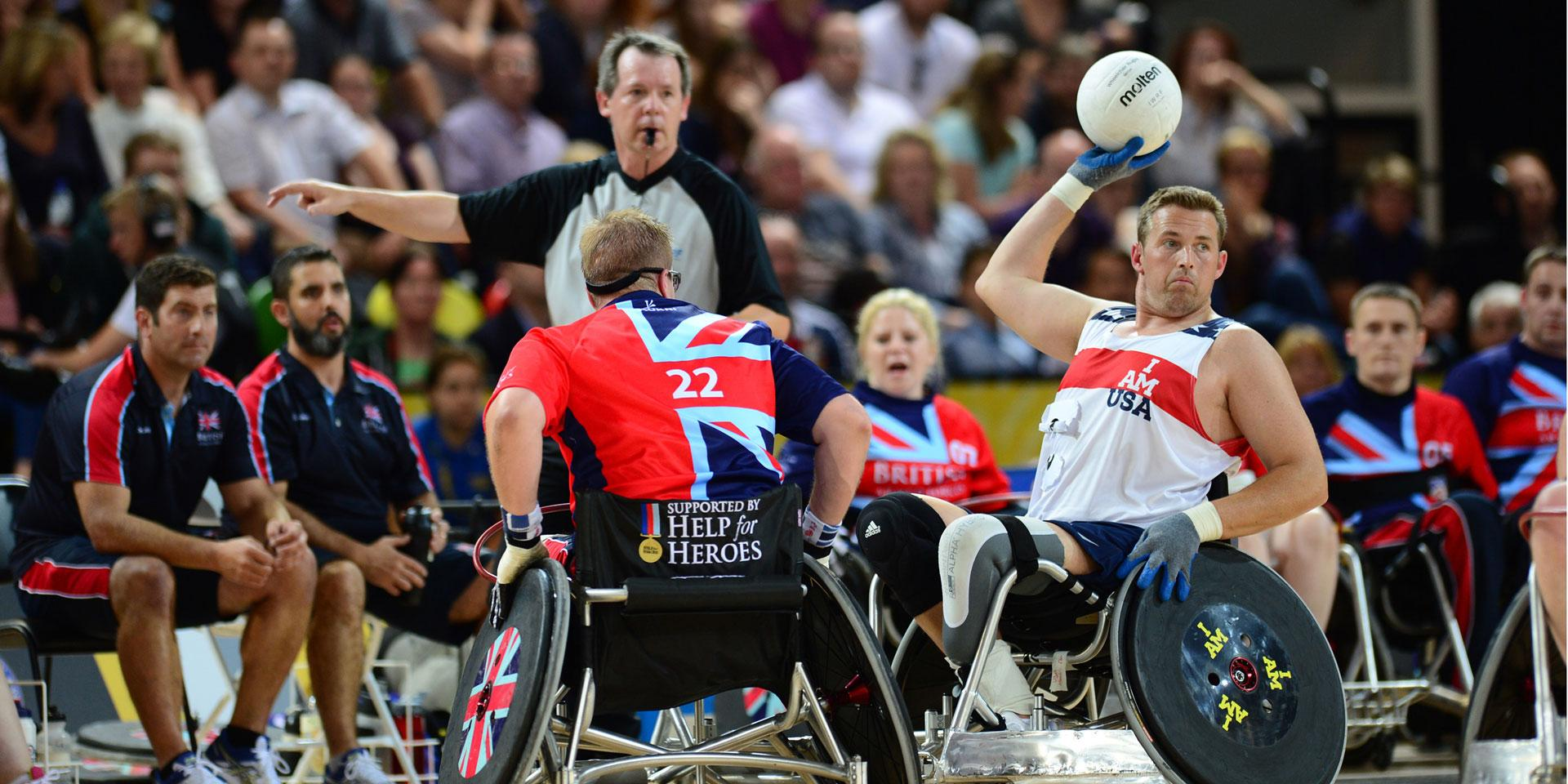 Sporting competition at the inaugural Invictus Games, 2014