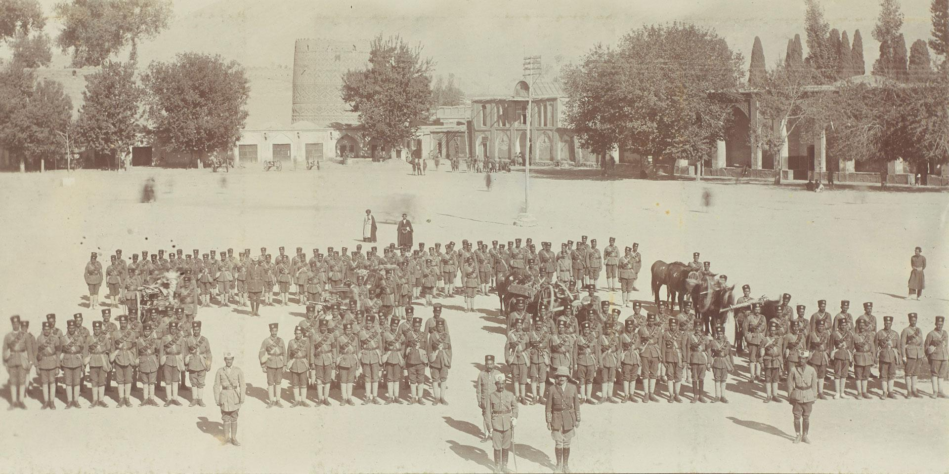 Parade of the South Persia Rifles, 1918