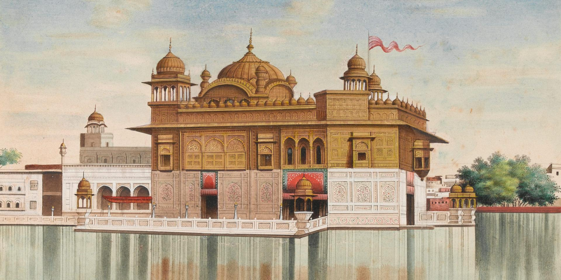 The Golden Temple at Amritsar, the most important place of worship for Sikhs