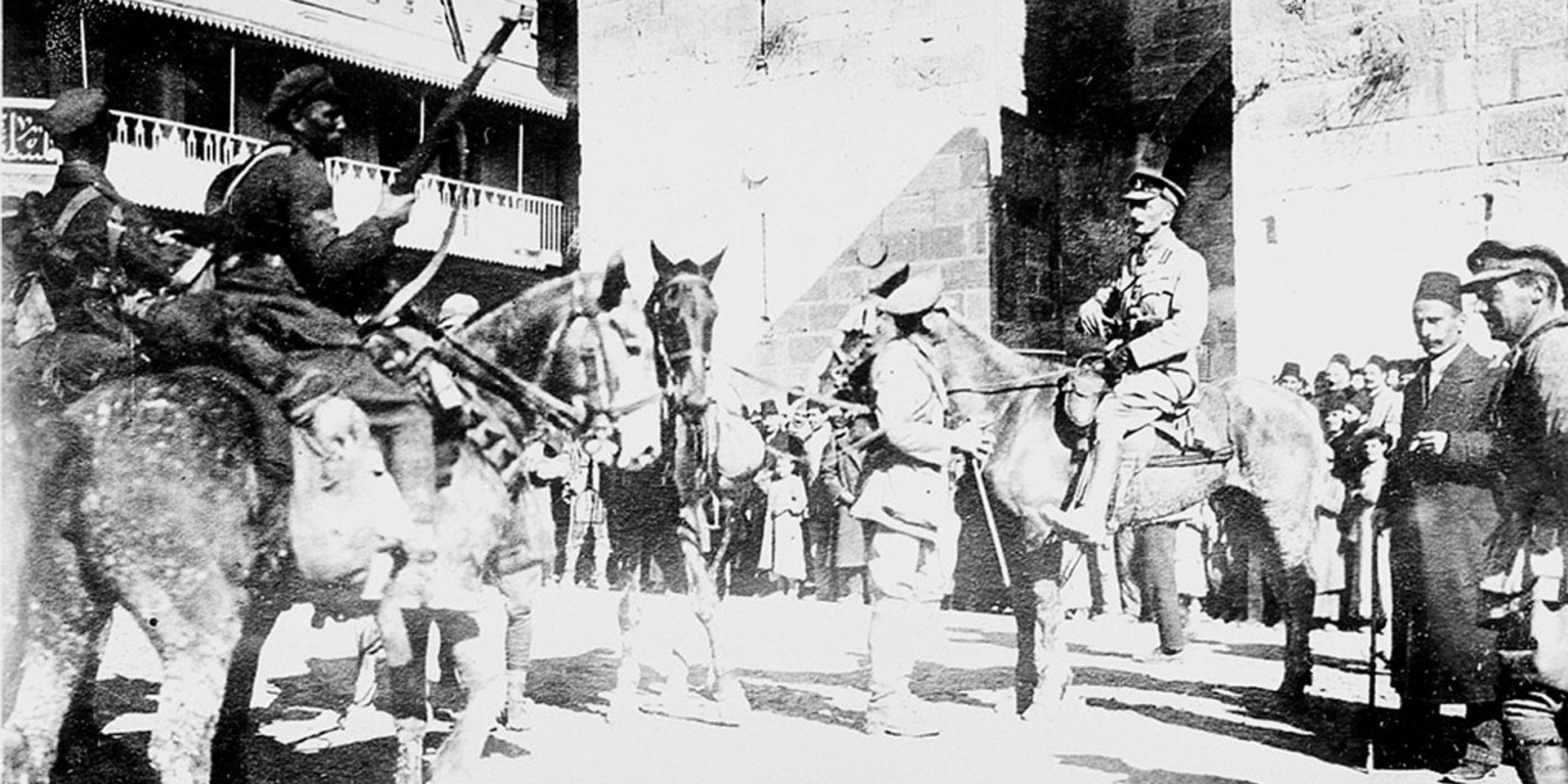 British troops enter Jerusalem, December 1917