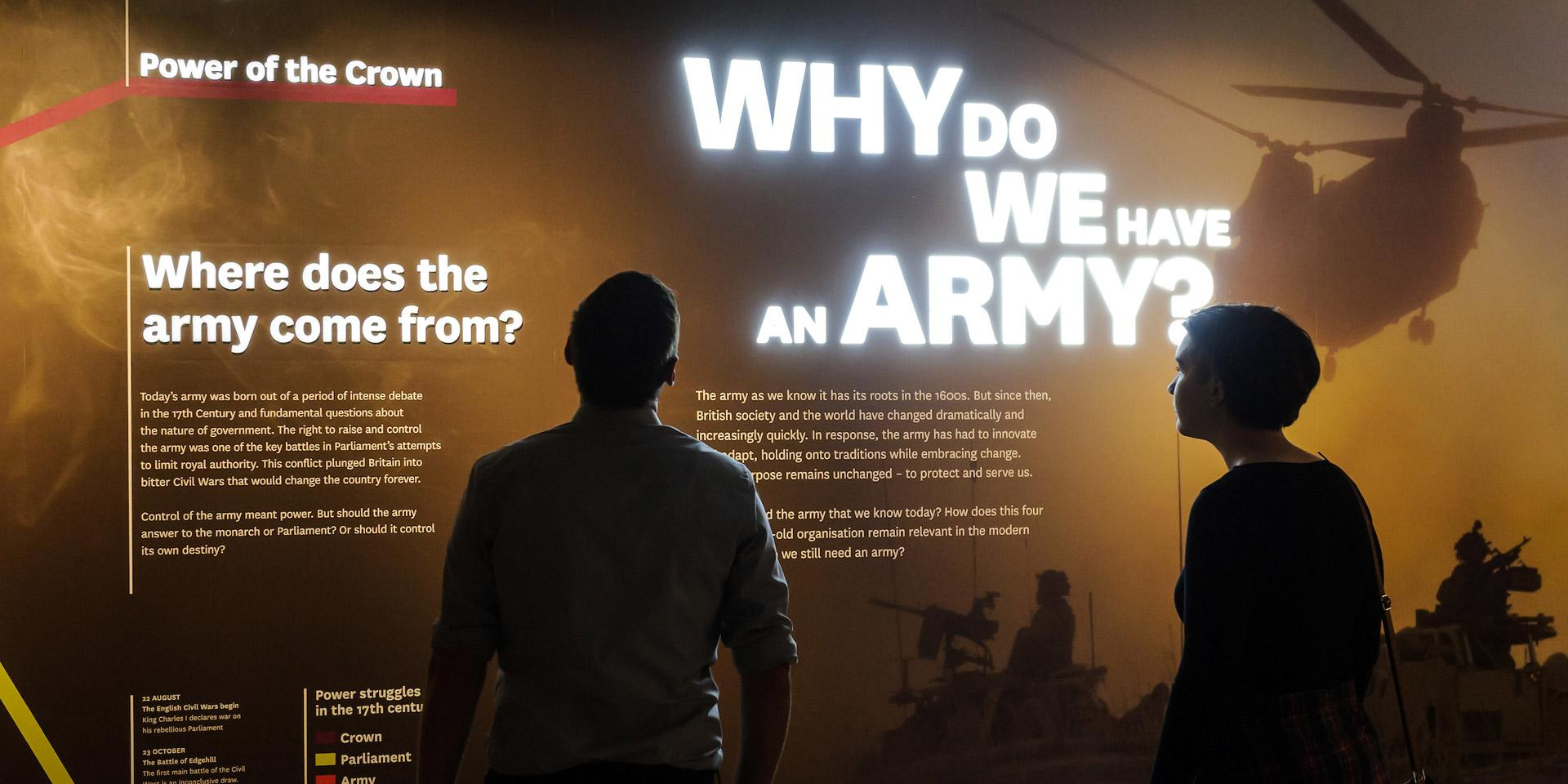 Display in Army gallery